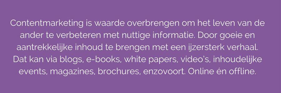 definitie contentmarketing