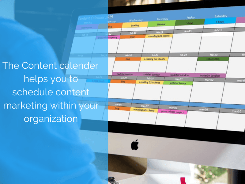 Plan your content and media with the Content Calender 2019