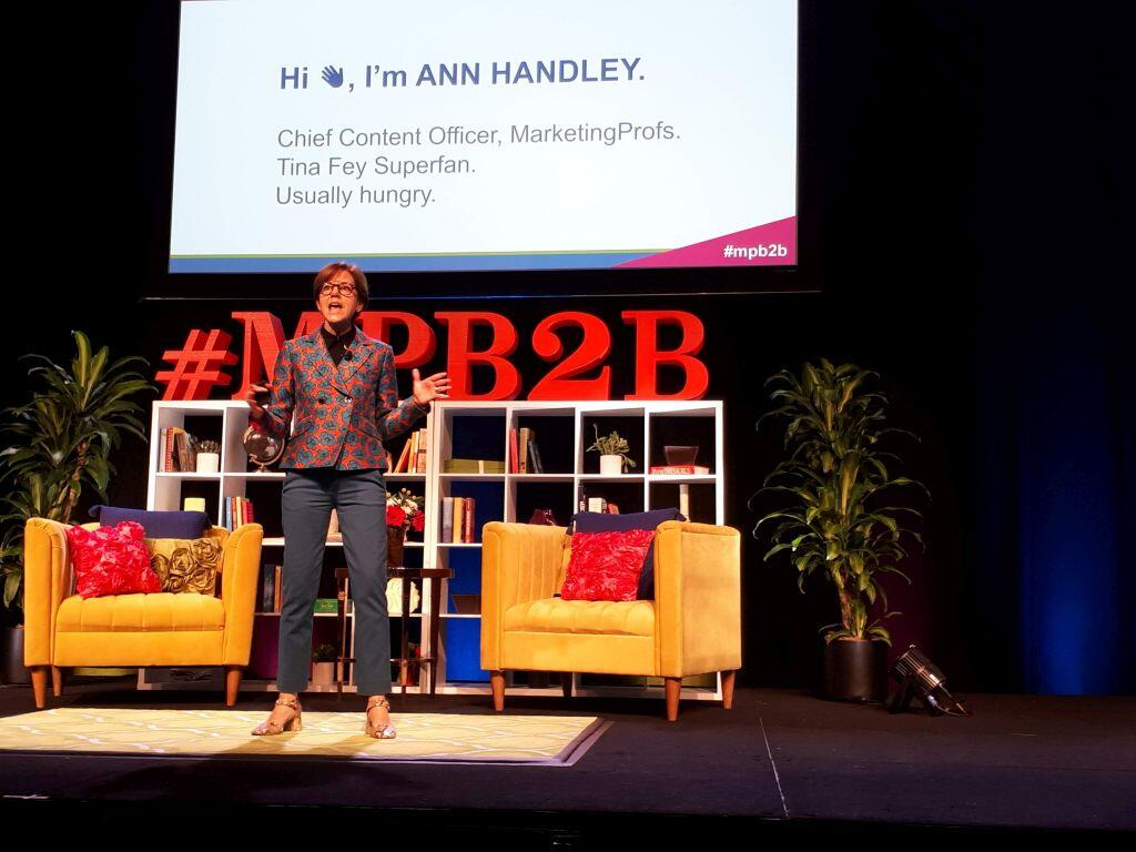 Ann Handley b2bmarketingforum contentmarketing