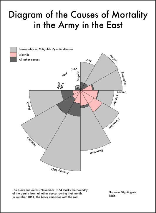 zelf onderzoek doen - diagram Florence Nightingale