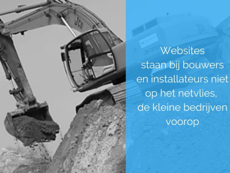 Kracht website onderschat door bouw- en installatiebedrijven